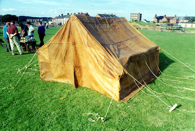 Reconstruction leather tent