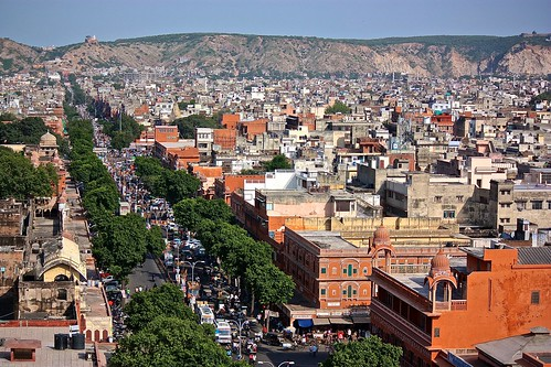 Jaipur looks more like a red city from this angle