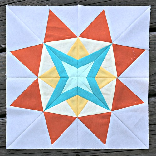 The Spunky Star - the June 2014 block for the Lucky Stars Block of the Month Club