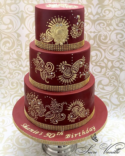 Indian Themed Cake by Sucre Vanillé, New York