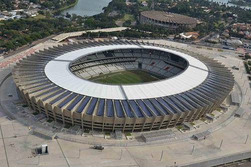 Крышу бразильского стадиона Mineirão покрывают тысячи солнечных батарей