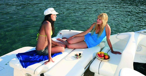 Ladies Lounging on a Boat