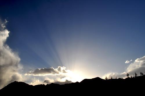 sunset india leh jk laddakh