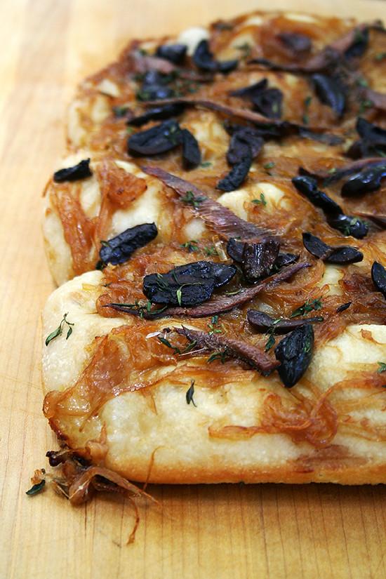 just-baked pissaladière