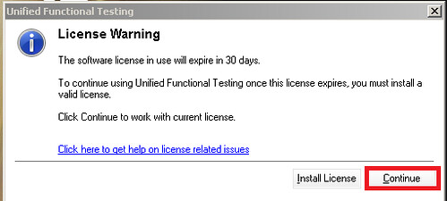 hpuft License warning