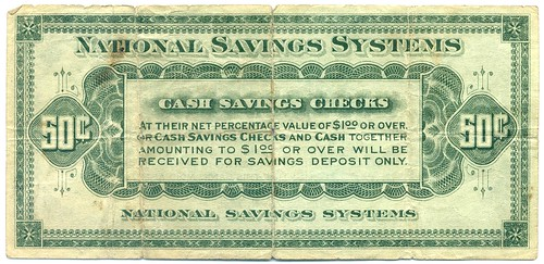 National Savings Systems 50 cents back