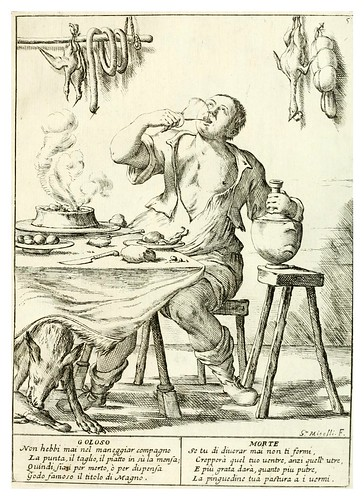 006- El goloso- Le ventiqvattr' hore dell' hvmana felicità…-1675--Giuseppe M. Mitelli