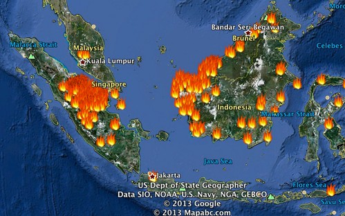 South East Asia active fire areas in Google Earth (last 48 hrs) 20130617 | Flickr - Photo Sharing!