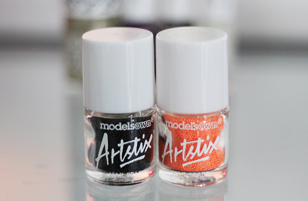 review of Models Own Artistix Nail Polish in Black Fizz and Neon Orange Fizz
