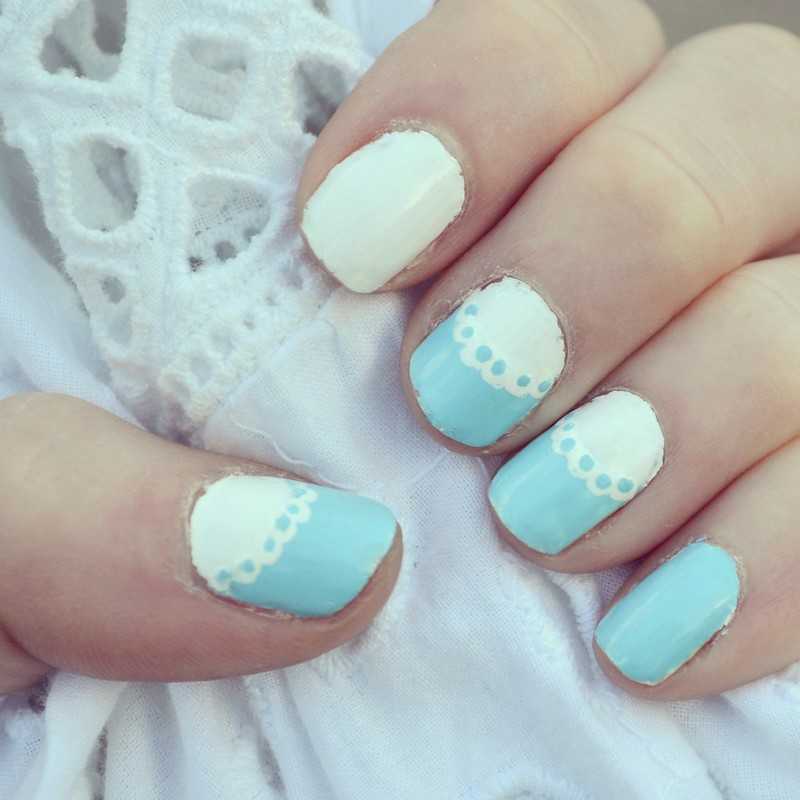 DIY Lace Frill Nails 1