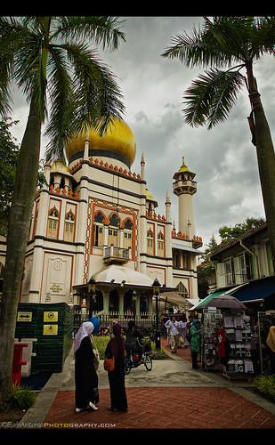 Sultan Mosque (Masjid Sultan) Arab Street, Kampong Glam, Singapore by Sam Antonio Photography