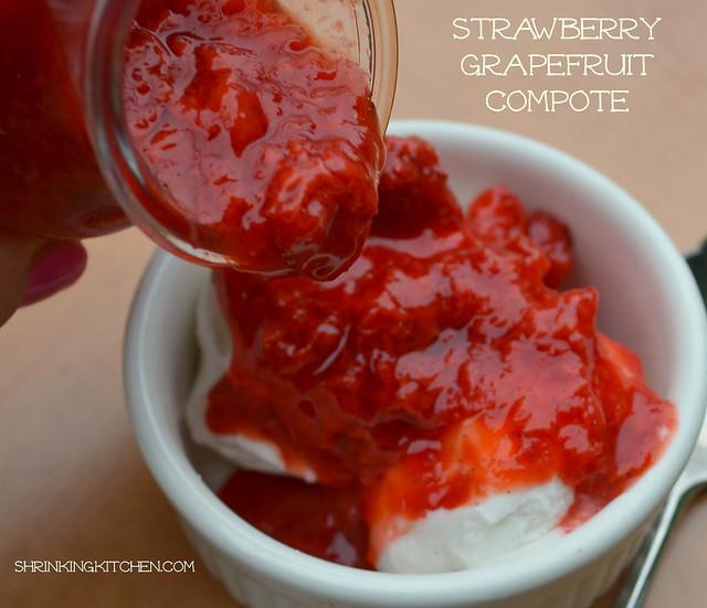 strawberry grapefruit compote