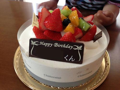 息子3歳の誕生日
