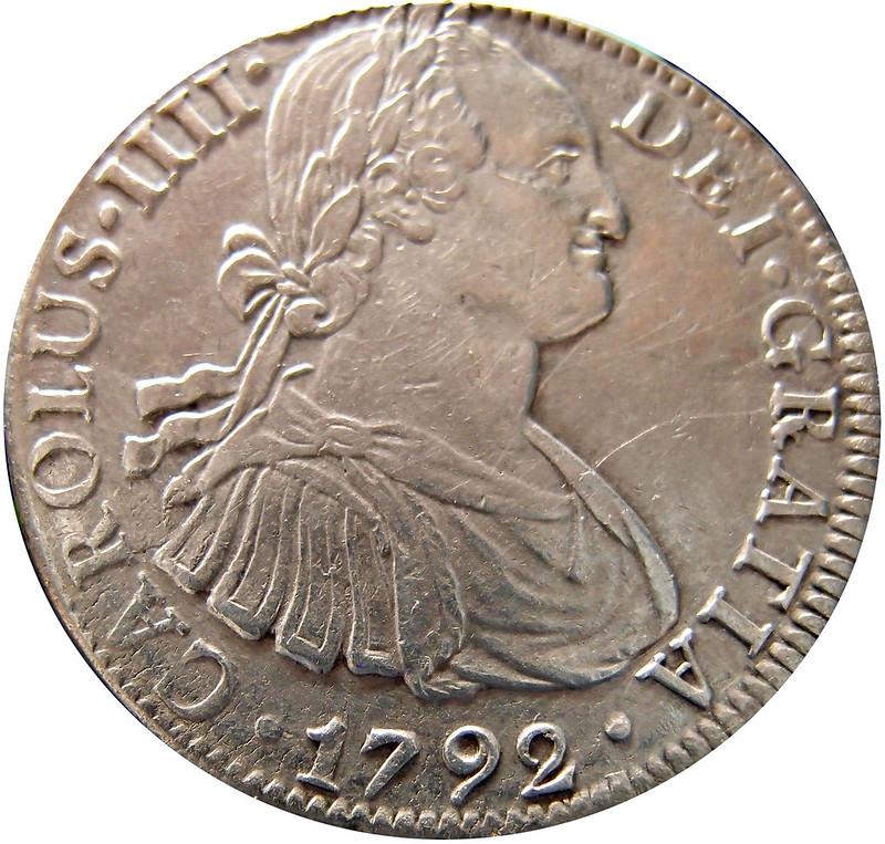 8 reales 1792 FM Carlos IIII. Mexico 9366501172_87b6f93d82_c