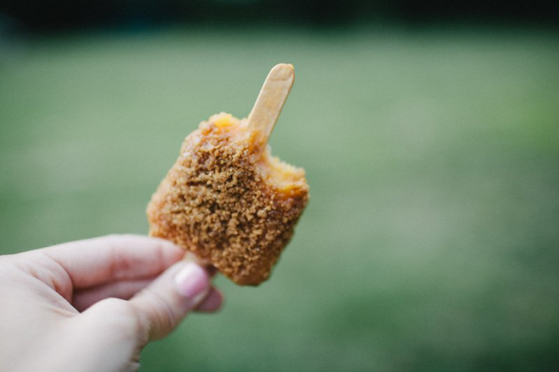 peach popsicles with pecan streusel crunch