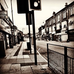Main Street through #hyde town centre - #urban #decay not many shops functioning - #economic #downturn still biting HARD!