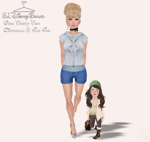 SL Disney Bound - Cinderella & Gus Gus