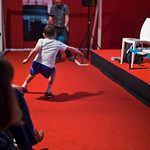 Tom Palmer held a penalty shoot out during his event |