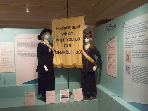 DAR Museum Suffrage Banner