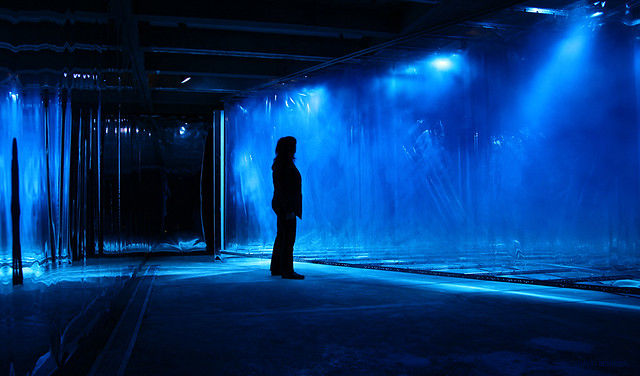 "RU EXHIBITION: ""Blue"", a site specific installation by David Spriggs at Abrons Art Center"