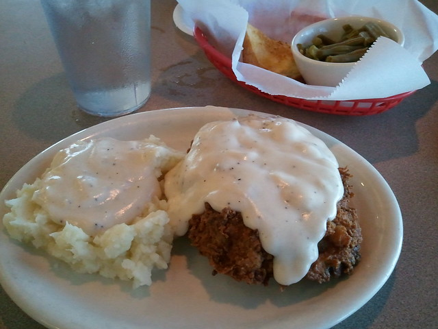 Good Gravy Diner Chicken Fried Steak W/Mashed Potatoes, Green Beans ...