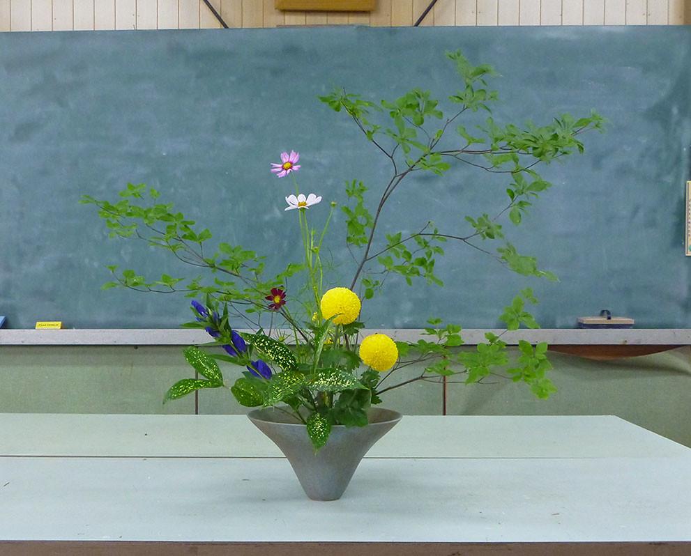 【盛花】ドウダンツツジ、キク、コスモス【2013_08_31】