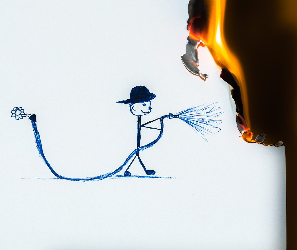 Putting out the flames