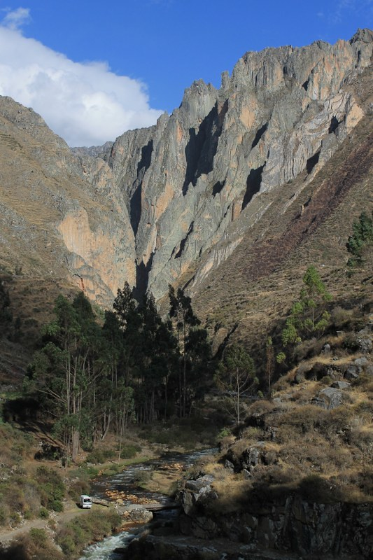 The quebrada near Huancahuasi