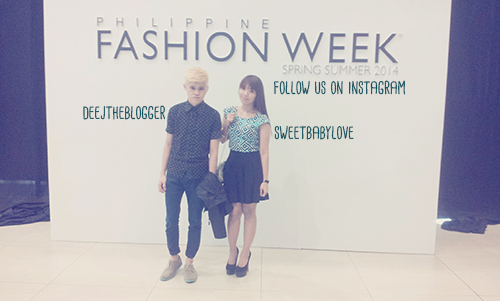 me and kiss at the philippine fashion week 2014
