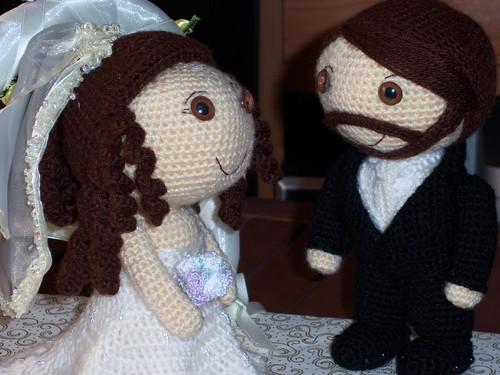 Amigurumi Muñeco Boda - Sara y Jacob