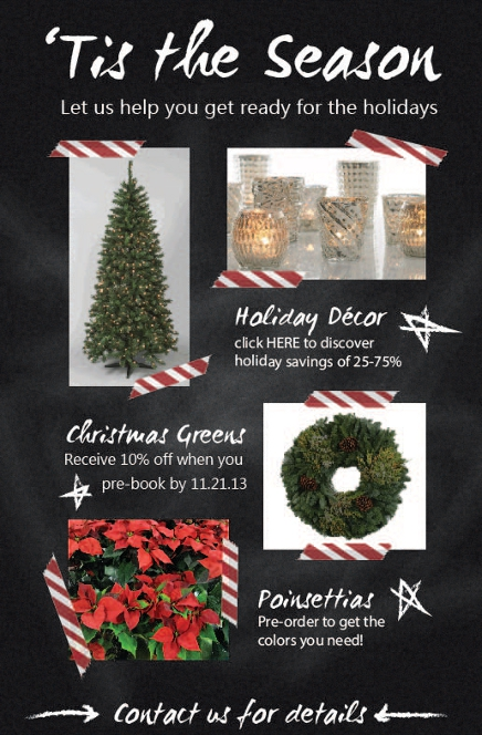 wreaths and poinsettias christmas decor