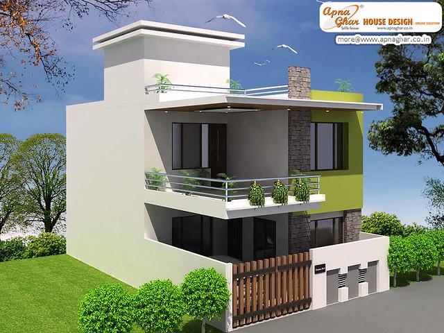 Simple Modern Duplex House Design | Flickr - Photo Sharing!