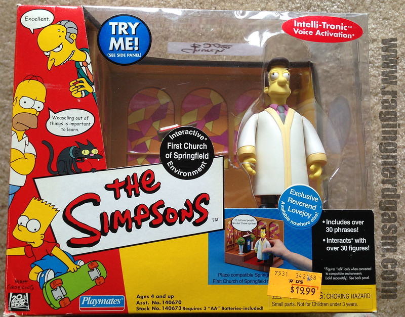 Playmates Play sets The Simpsons First Church of Springfield Reverend Lovejoy