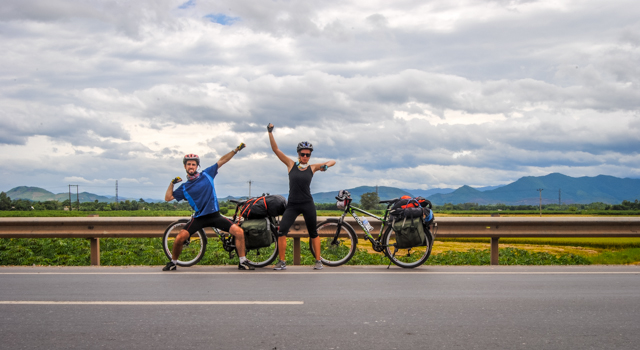 A Cruising Couple Cycling Vietnam