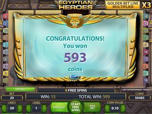 Egyptian Heroes bonus game