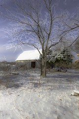 barn with snow 3
