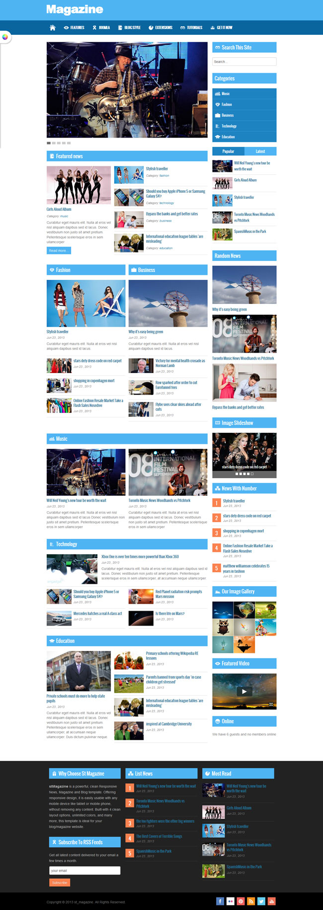ST Magazine - Online News, Magazine & Blog for Joomla