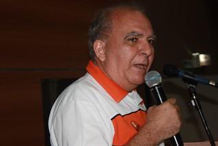 O 1º vice-presidente nacional do Solidariedade, Miguel Torres, durante seu discurso