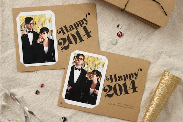 Fabric Paper Glue | DIY Holiday Photo Cards + Free Printable