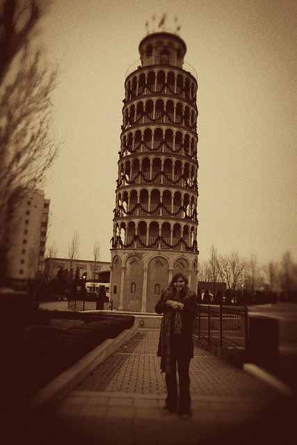 Leaning Tower of Niles in Niles, Illinois