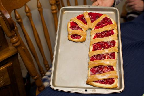 Candy cane tart.