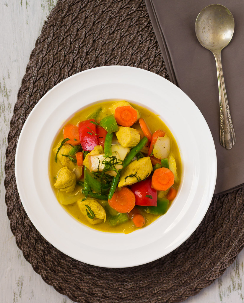 Thai Green Coconut Curry (Pei Wei Inspired) Final Top Shot