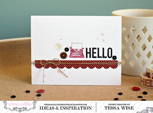 Stamped Hello Card 1