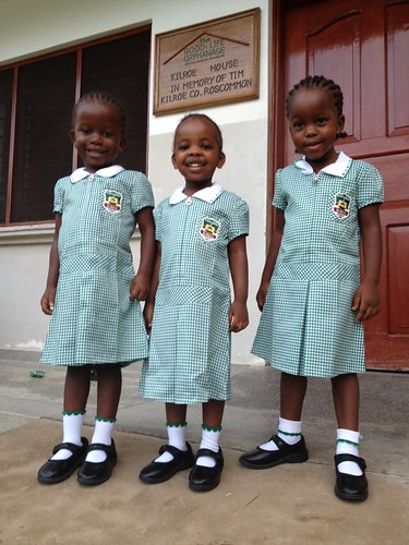 Nyevu, Evelyn & Angel 1st day at School