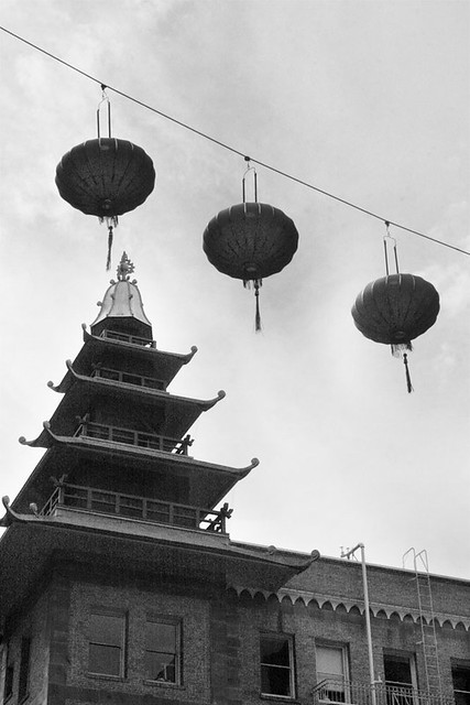 Chinatown Lanterns and Pagoda