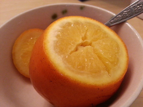 最後提供一種小偏方--鹽燉橙