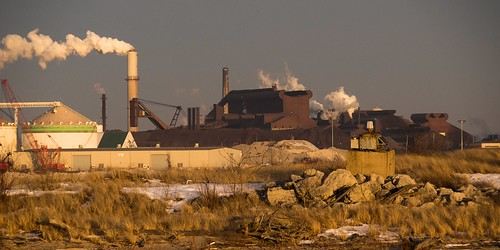 winter industry flickr lakemichigan greatlakes smokestack powerplant steelmill nikkor200600mmf95superzoomlens sonyalpha7rilce7ra7r