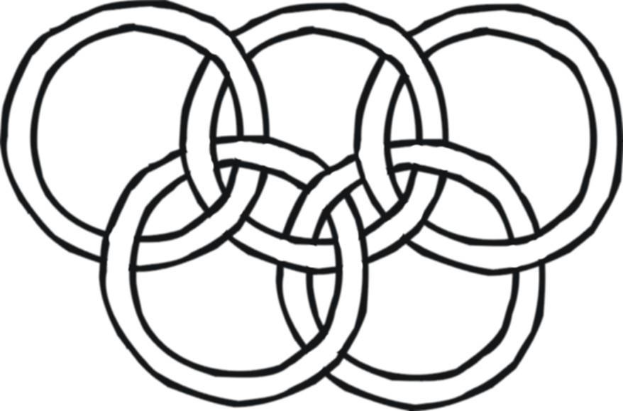 Olympische Ringe Ausmalen Star
