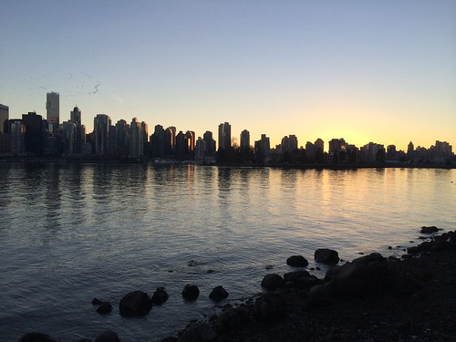 Running around the Stanley Park seawall at sunset (Jan. 20, 2014)