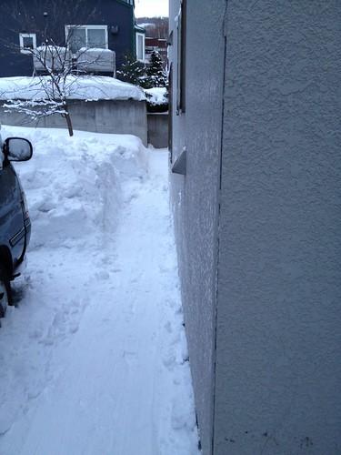 屋根の雪下ろし 2014-2-1 No.4